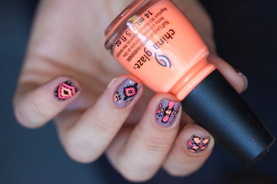 reverse stamping- nude and neon_2