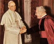 A sinistra Pio XII e a destra Domenico Tardini, nominato cardinale nel 1958. Henry Ness incontrò tutti e due – il primo nel 1947 e il secondo nel 1948 – durante 'il suo lavoro cristiano' come lo hanno chiamato le ADI. Foto presa da: http://sipastorangelicvs.blogspot.it/2011/07/centenario-del-cardenal-domenico.html