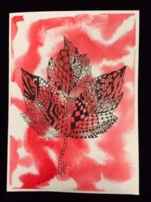 Card Maple Leaf LR