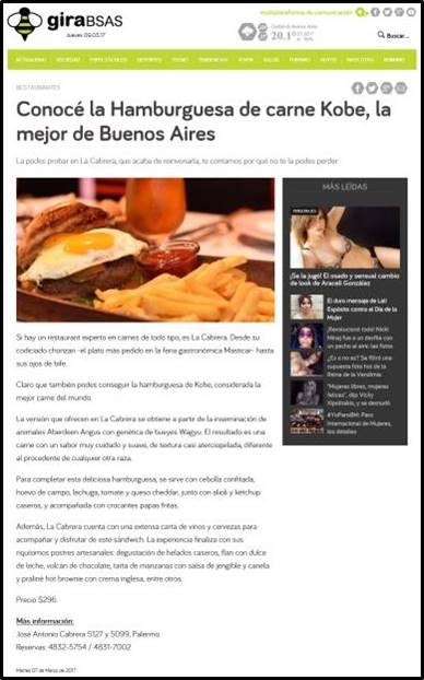 Conocé la Hamburguesa de carne Kobe, la mejor de Buenos Aires