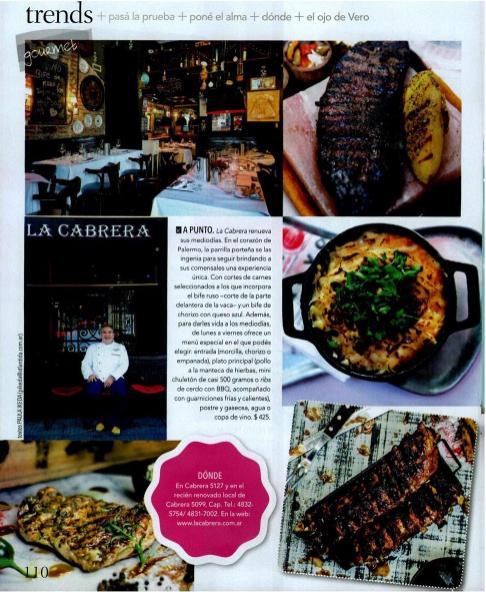 Nuevos menús mediodía en La Cabrera