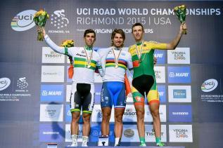 Michael Matthews, Sagan y Navardauskas.