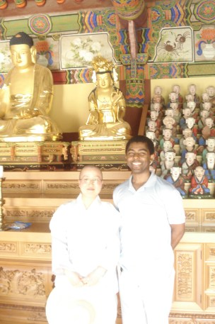 A Picture with a Korean Monk