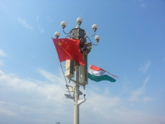 China and India's flag