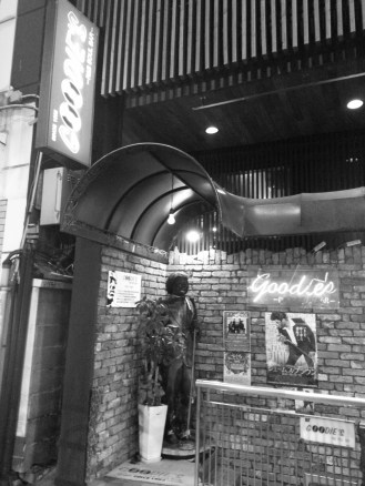 Outside Goodie's R&B and Soul Bar in Fukuoka, Japan