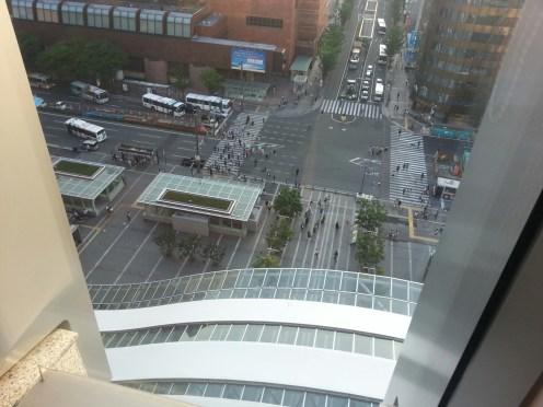 JR Hakata Station's 9th floor view