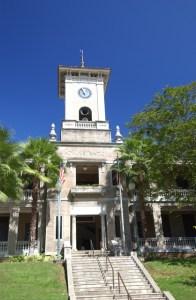Histórico Edificio De Diego, sede de la Rectoría del Recinto Universitario de Mayagüez de la Universidad de Puerto Rico.