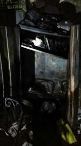 Vista de los daños ocasionados por un incendio en escuela José De Diego de Aguadilla.