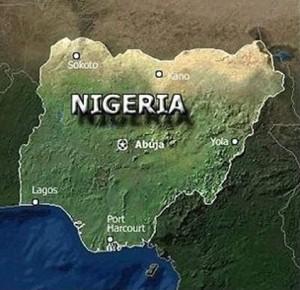 Mapa de Nigeria, uno de los países más afectados por el virus de ébola en África.