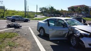 Vista más amplia de la escena del accidente (Foto Rescate Cortés).