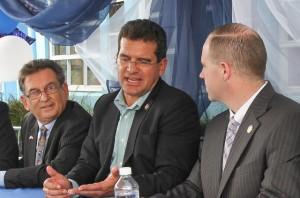 "De izquierda a derecha, Agustín ""Chito"" Olivencia, Pedro Pierluisi y Tim Kennedy (Suministrada)."