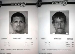 Fichas de los arrestados por la División de Drogas (Suministradas Policía).
