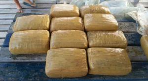 Fardos do conteniendo marihuana confiscados en Lajas y Cabo Rojo (Suministrada Policía).