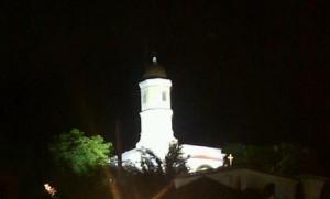Vista nocturna del Santuario de Hormigueros (Archivo).
