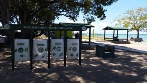 """Una de las """"Estaciones Verdes"""" instaladas en la playa de El Combate en Cabo Rojo (Suministrada DRNA)."""