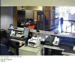 Instantánea tomada de las cámaras de seguridad durante el robo (Suministrada Policía).