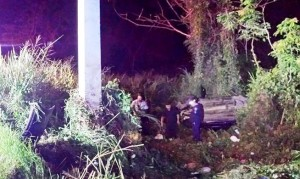 Escena del accidente (Foto Rescate Cortés).