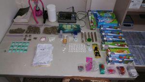 Parte del material ocupado por los agentes (Suministrada Policía).