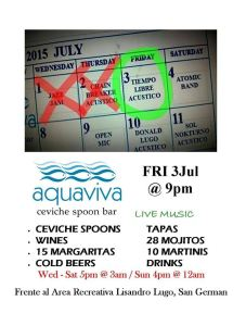 aquaviva viernes 3 julio