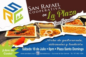 Promoción de la actividad gastronómica de este sábado en San Germán (Suministrado).