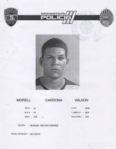 """Ficha policíaca de Wilson Morell Cardona. Haga """"click"""" para ampliar la imagen (Suministrada Policía)."""