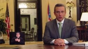 El gobernador Alejandro García Padilla durante su mensaje sobre el Plan de Ajuste Fiscal (Captura de pantalla).