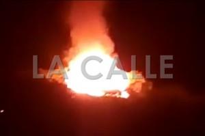 """Incendio de la """"Casa Redonda"""", en el barrio Quebrada Grande de Mayagüez (Foto LA CALLE Digital)."""