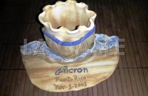 """Uno de los recordatorios entregados el día de la inauguración de Micron Technologies en Aguadilla, el 3 de noviembre de 2003. Haga """"click"""" para ampliar la imagen (Foto LA CALLE Digital por Julio Víctor Ramírez, hijo)."""