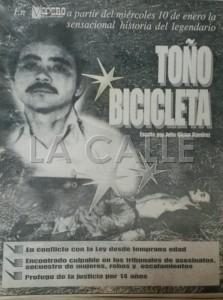 """La promoción de la serie """"El Legendario Toño Bicicleta"""", de la autoría del periodista Julio Víctor Ramírez. Haga """"click"""" sobre la imagen para ampliarla (Foto LA CALLE Digital)."""