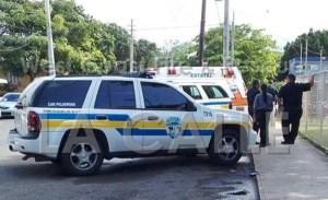 Ambiente frente al cuartel de Isabela mientras se investigaba incidente de la supuesta bomba (Foto Facebook West Coast Fire & Rescue).