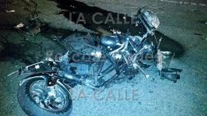 Así quedó la motora del joven Michael Irizarry Monsegur, quien murió en medio de un accidente en Añasco (Foto Rescate Cortés).
