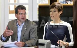 Los licenciados Pedro Pierluisi y María de Lourdes Santiago (Archivo).