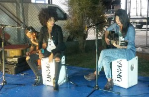 Brigitte Dávila y Mily Camacho, de UNNA, se presentaron en Aquaviva en San Germán (Foto LA CALLE Digital).
