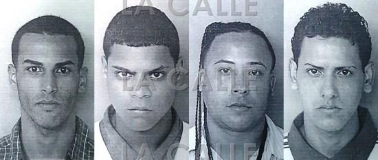 Fotos de las fichas de Abner Ramos Alers, Albert García Algarín, Christian Serrano García y Jesús M. Cruz Aquino (Suministradas Policía).