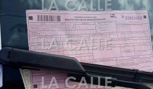"""Boleto expedido contra el vehículo del senador o senadora. Haga """"click"""" sobre la imagen para ampliarla (Foto Facebook por Germán Ramos)."""