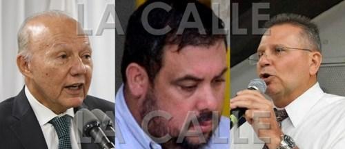 De izquierda a derecha, el secretario de Justicia, César Miranda; el convicto empresario Anaudi Hernández; y el representante novoprogresista José Aponte Hernández.