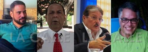 """De izquierda a derecha, el senador Angel Rosa; el excandidato Inés """"Koko"""" Ríos; el senador Antonio Fas Alzamora; y el exsenador Jorge Ramos Vélez."""