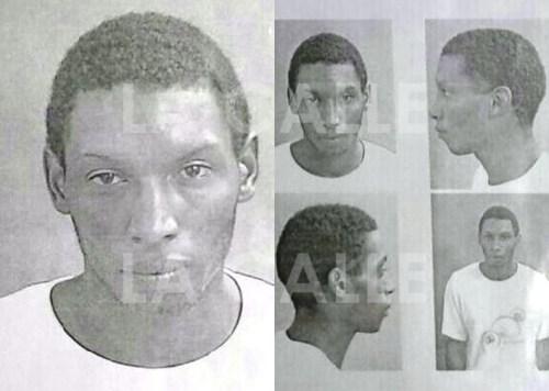 """Fotos de la ficha de Carlos Rosa Valentín, alias """"El Negro"""" (Suministradas Policía)."""