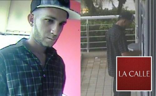 Este individuo hizo retiros en cajeros automáticos con una tarjeta ATH robada (Suministradas Policía).