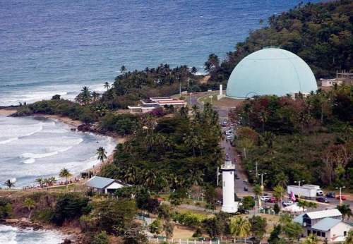 La intervención se produjo en la playa que esta entre el faro y la planta nuclear de Rincón (Foto Internet).