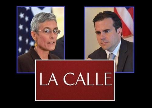 La superintendente de la Policía, Michelle Hernández, y el gobernador Ricardo Rosselló (Fotomontaje LA CALLE Digital).