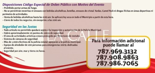 Algunas de las medidas que ejecutará la Policía Municipal de Mayagüez con motivo de las Justas de la LAI.
