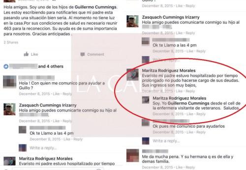 Captura de pantalla de la cuenta de Cummings (Fuente/Facebook).