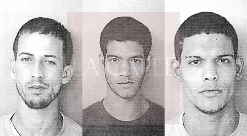 En el orden acostumbrado, las fotos de las fichas de Edward Rodríguez Morales; y de los hermanos Jonathan y Miguel Muñoz Barrientos (Suministradas/Policía).
