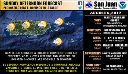 08-06-17 Forecast NWS Puerto Rico