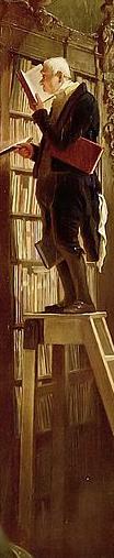 Spitzweg, Der Bücherwurm - zu: Anspruch und Begehren