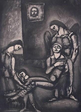 Rouault George - Le juste comme le bois Zyklus Miserere Bild XLVI, 1922