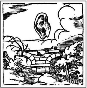 Ohrenbrücke aus Horapollo, zu: Jacques Lacan, Lituraterrre - Signifikant vs. Buchstabe