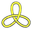 Kleeblattknoten gelb (Lacan, Sinthom Seminar Joyce)