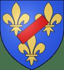 Familienwappen-der-Ducs-de-Vendôme-mit-Schrägbalken.